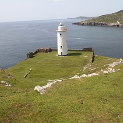 Ardnakinna Lighthouse on Bere Island exhibits new LED light